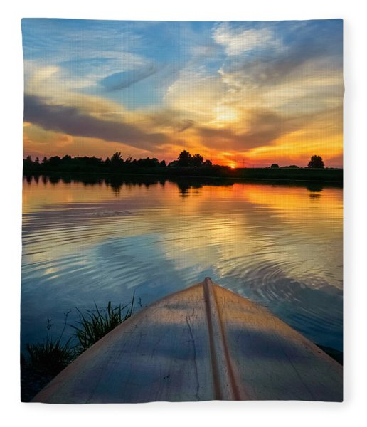 Fleece Blanket featuring the photograph Cottage Country's Silhouette by Garvin Hunter