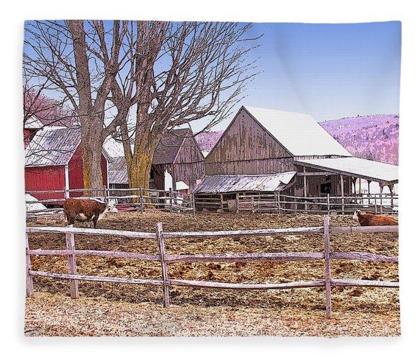 Cows At Jenne Farm Fleece Blanket