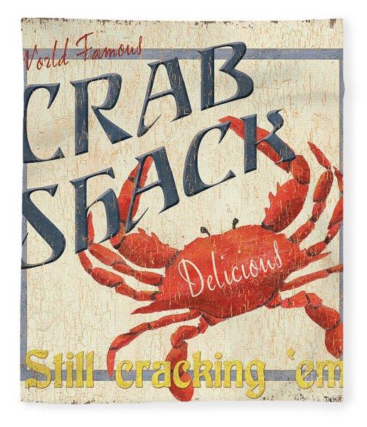 Crab Shack Fleece Blanket