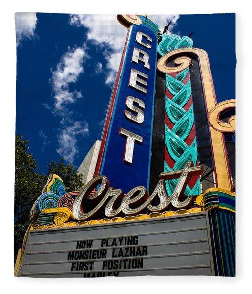 Crest Theater Fleece Blanket