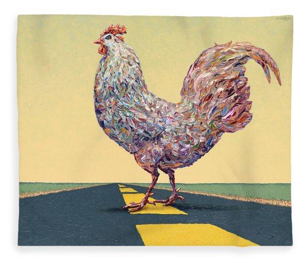 Crossing Chicken Fleece Blanket