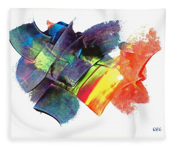 Crystaline Rainbows Fleece Blanket