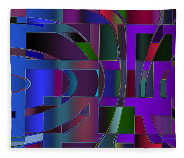 Curves And Trapezoids 2 Fleece Blanket
