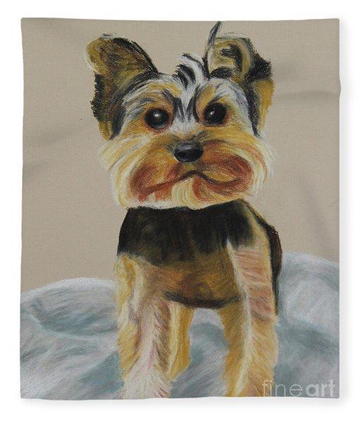 Cute Yorkie Fleece Blanket