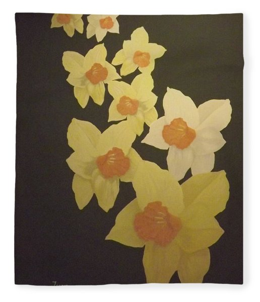 Daffodils Fleece Blanket