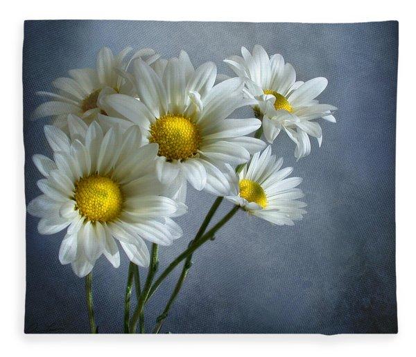 Daisy Bouquet Fleece Blanket