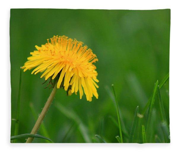 Dandelion Flower Fleece Blanket