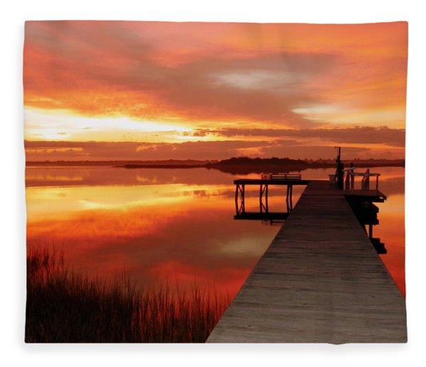 Dawn Of New Year Fleece Blanket