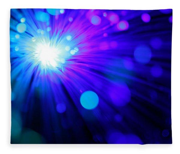 Dazzling Blue Fleece Blanket