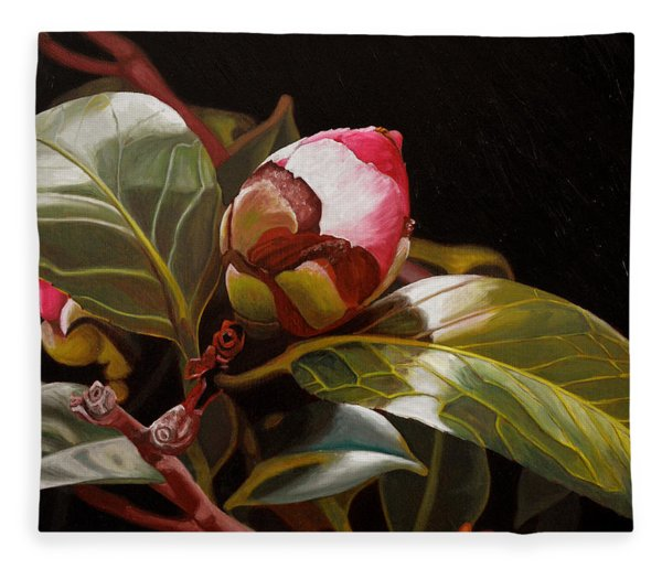 December Rose Fleece Blanket