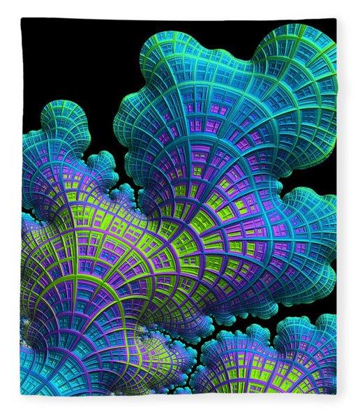 Fleece Blanket featuring the digital art Deep Sea Coral by Susan Maxwell Schmidt