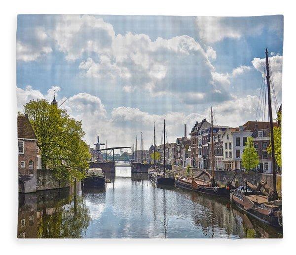 Delfshaven Rotterdam Fleece Blanket