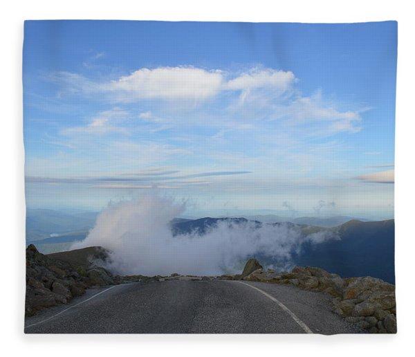 Descending Into The Clouds Fleece Blanket