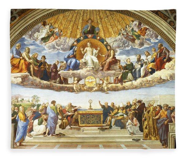 Disputation Of Holy Sacrament. Fleece Blanket