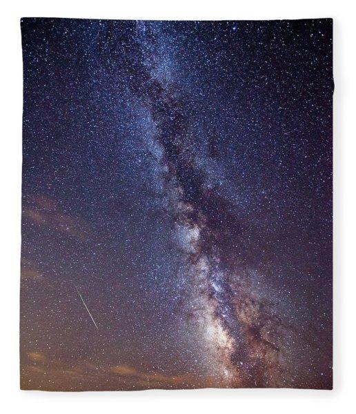 Distant Visitors Fleece Blanket