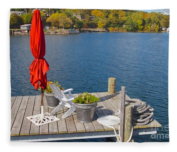 Dock By The Bay Fleece Blanket