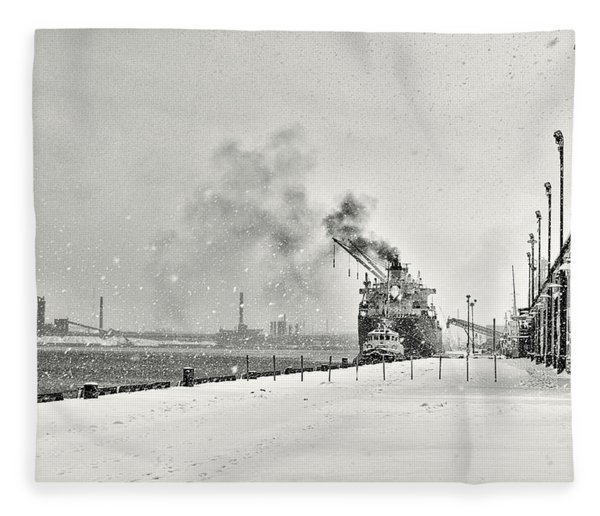 Fleece Blanket featuring the photograph Dockyard by Garvin Hunter