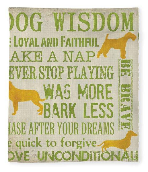 Dog Wisdom Fleece Blanket