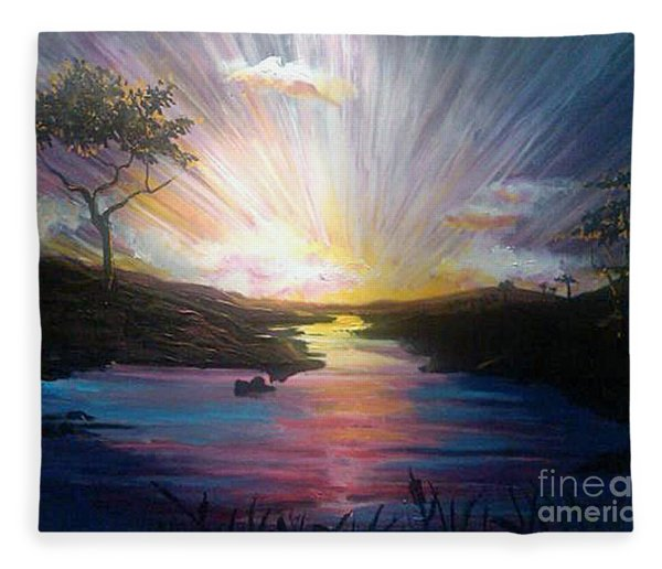 Down To The River Fleece Blanket