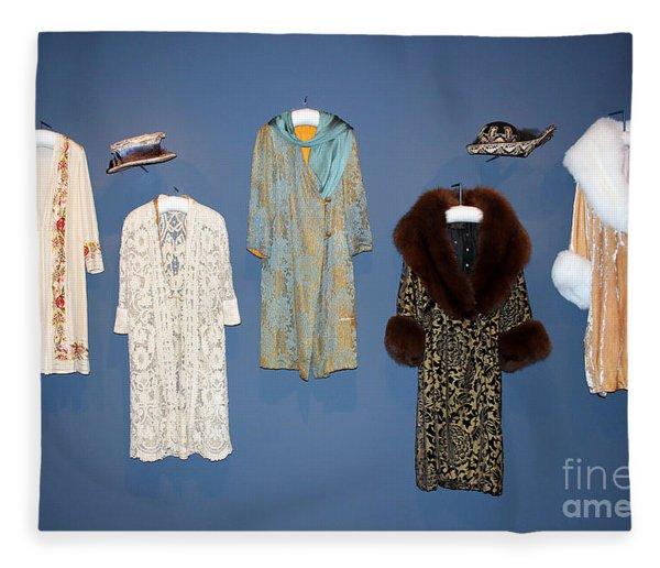 Downton Abbey Clothes Fleece Blanket