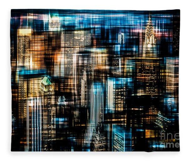 Downtown II - Dark Fleece Blanket