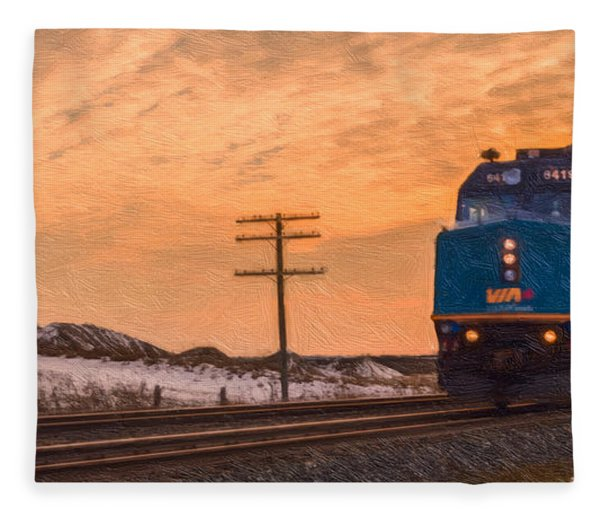 Fleece Blanket featuring the photograph Downtown Train by Garvin Hunter