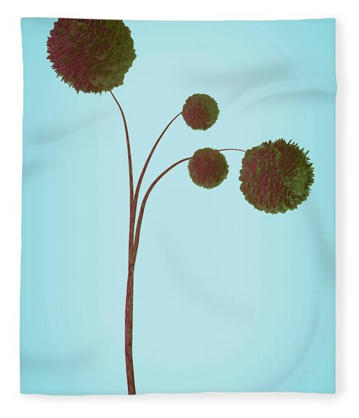 Fleece Blanket featuring the digital art Dried Plant 3 Of 4 by Matt Lindley