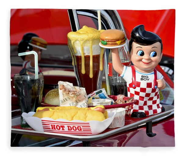 Fleece Blanket featuring the photograph Drive-in Food Classic by Carolyn Marshall