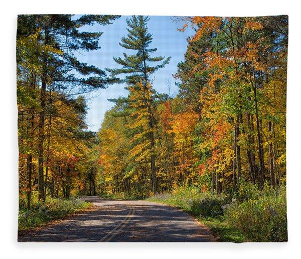 Drive Through Splendor In Minnesota Fleece Blanket