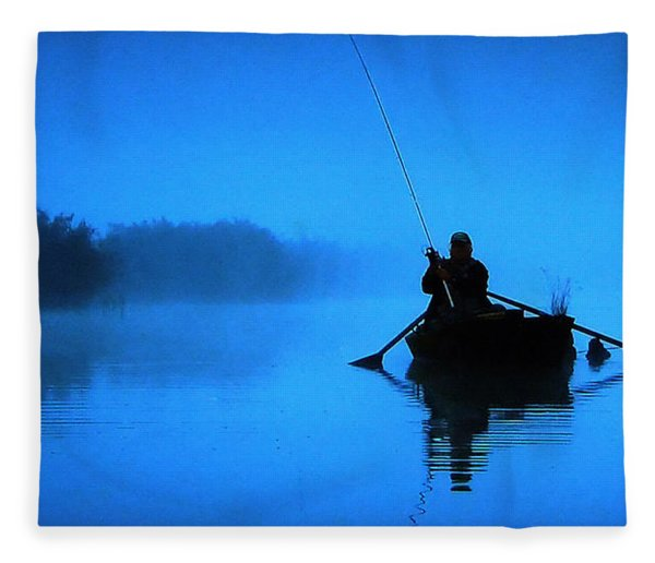 Fleece Blanket featuring the photograph Early Morning Fishing  by Colette V Hera  Guggenheim