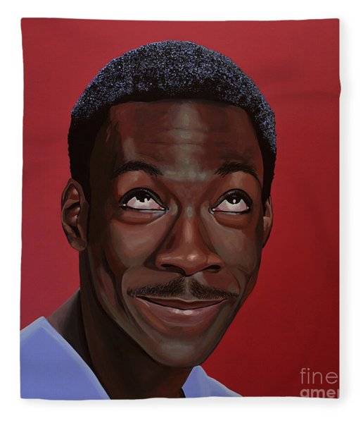 Eddie Murphy Painting Fleece Blanket