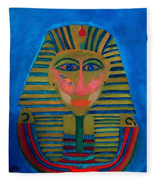 Fleece Blanket featuring the painting Egypt Ancient  by Colette V Hera  Guggenheim