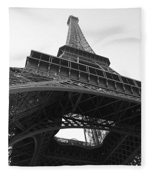 Eiffel Tower B/w Fleece Blanket