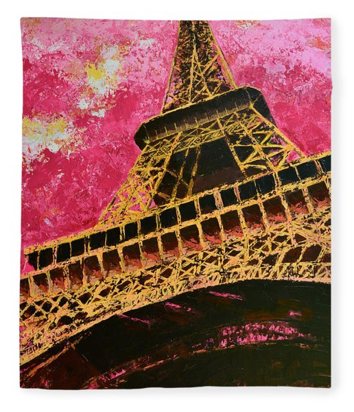 Eiffel Tower Iconic Structure Fleece Blanket