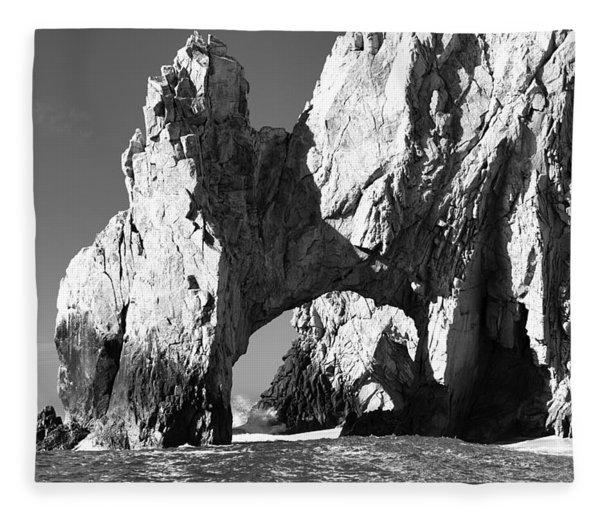 El Arco In Black And White Fleece Blanket