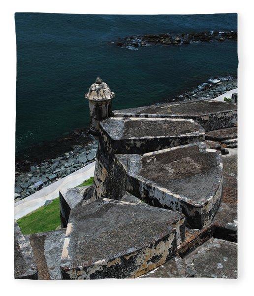 El Morro From Above Fleece Blanket