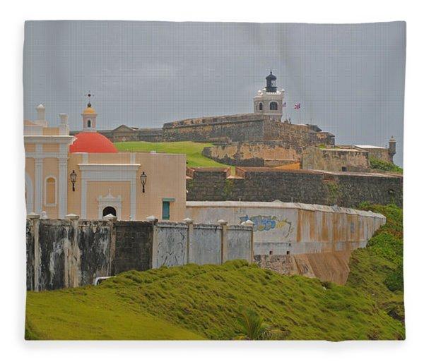 Scenic El Morro Fleece Blanket