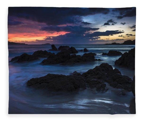 El Villar Beach Galicia Spain Fleece Blanket