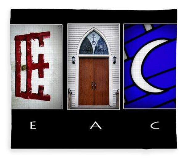 Elements Of Peace Fleece Blanket
