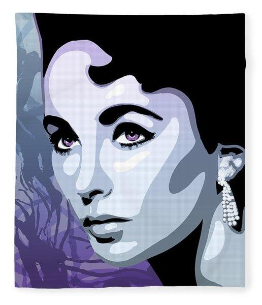Fleece Blanket featuring the digital art Elizabeth by Matt Lindley