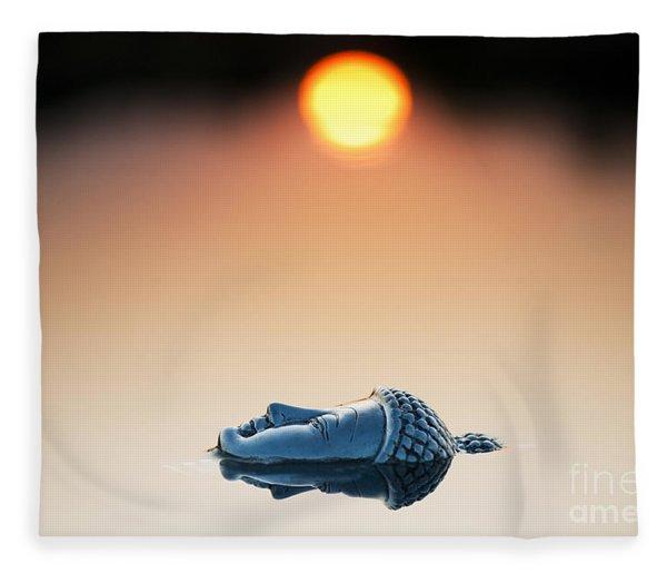 Emerging Buddha Fleece Blanket