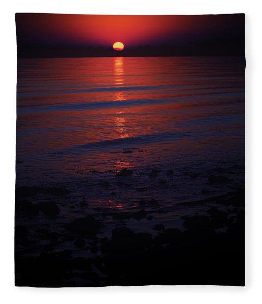 Ending Colors Fleece Blanket