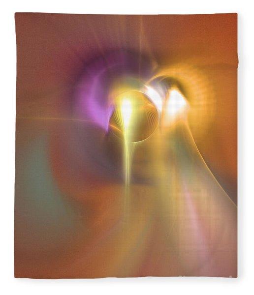 Fleece Blanket featuring the digital art Enlightened - Abstract Art by Sipo Liimatainen