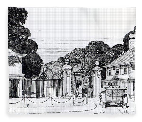 Entrance To Brooklandwood Fleece Blanket
