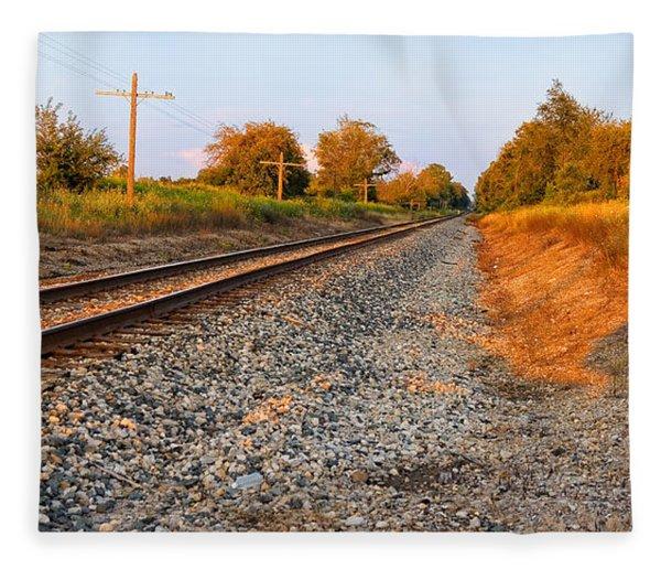 Evening Tracks Fleece Blanket