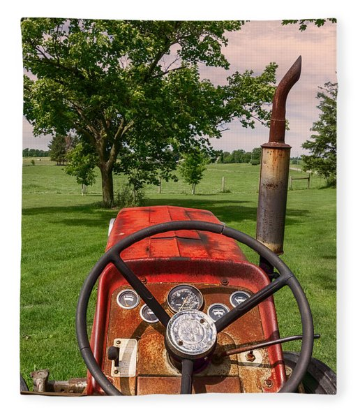 Fleece Blanket featuring the photograph Ever Drive A Tractor by Garvin Hunter