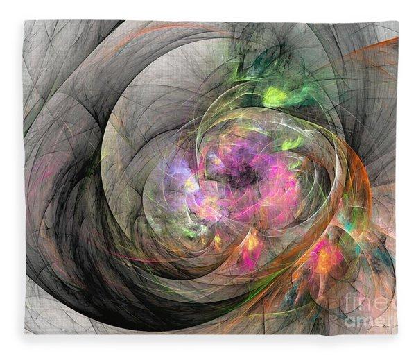 Fleece Blanket featuring the digital art Eye Of The Beauty by Sipo Liimatainen