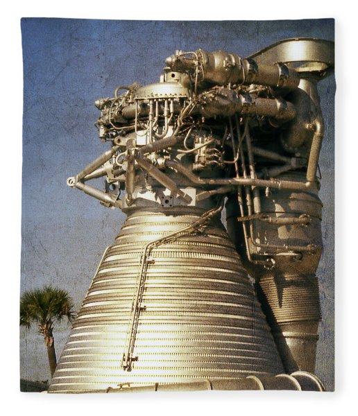 F-1 Rocket Engine Fleece Blanket