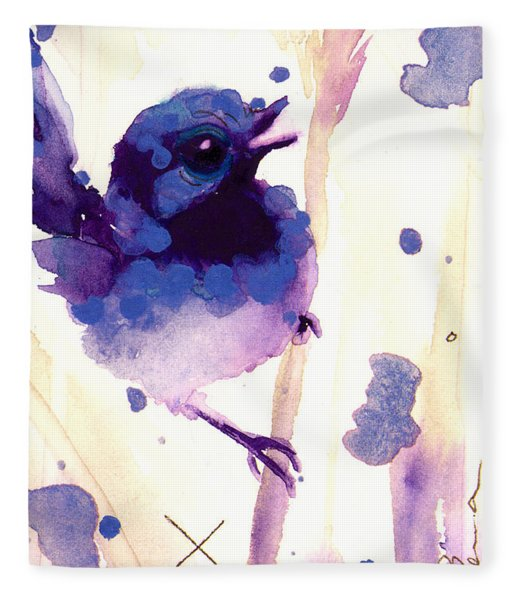 Fairy-wren Fleece Blanket