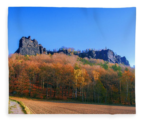 Fall Colors Around The Lilienstein Fleece Blanket